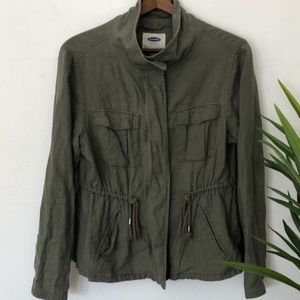 Old Navy Army Linen Jacket